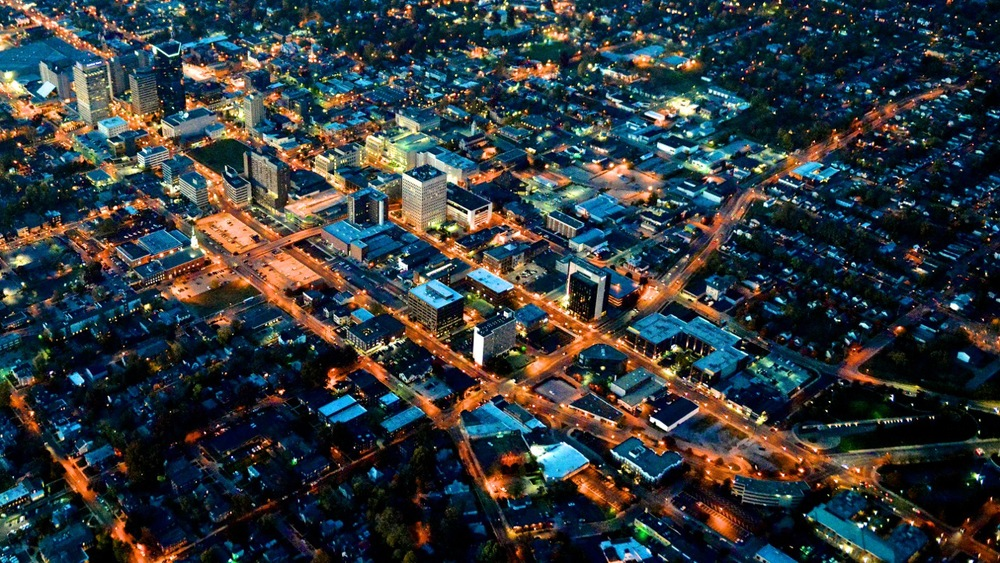 Downtown+night+aerial